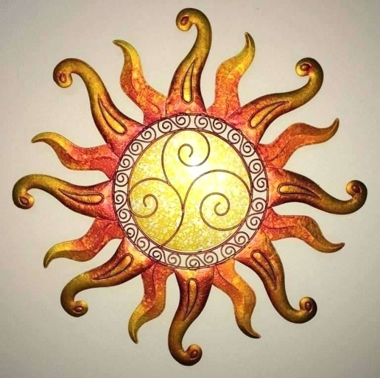 Widely Used Mexican Metal Yard Wall Art Metal Celestial Moon Sun Decor Garden With Regard To Mexican Metal Yard Wall Art (View 15 of 15)