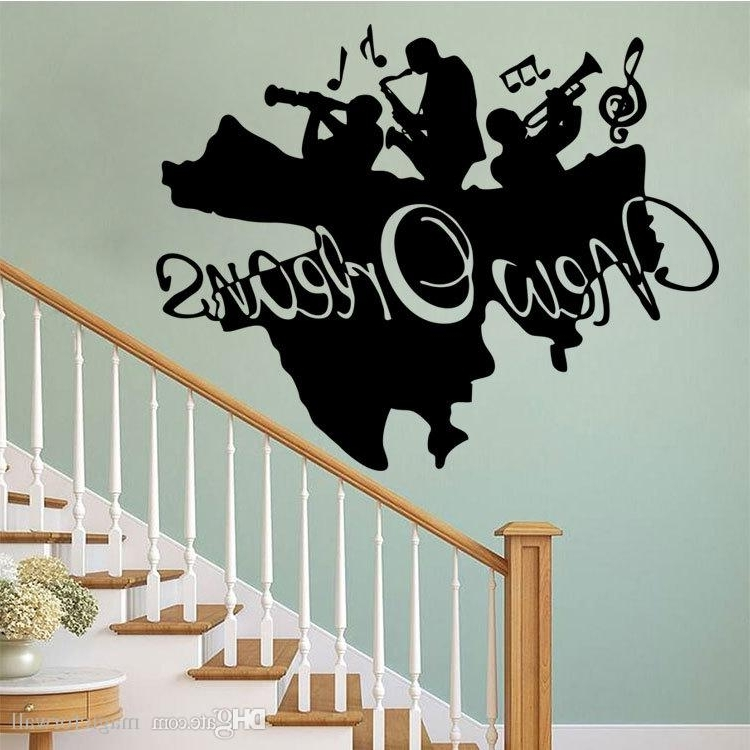 Widely Used Music Theme Wall Art With Regard To New Orleans Jazz Wall Art Mural Decor Sticker Jazz Band Wall (View 15 of 15)
