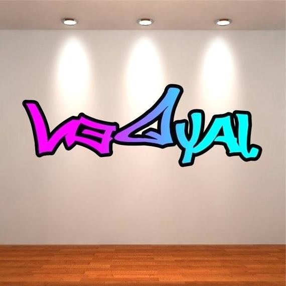 Widely Used Names Wall Stickers Personalised Name Dc Comic Book Girls New Super Inside Graffiti Wall Art Stickers (View 8 of 15)