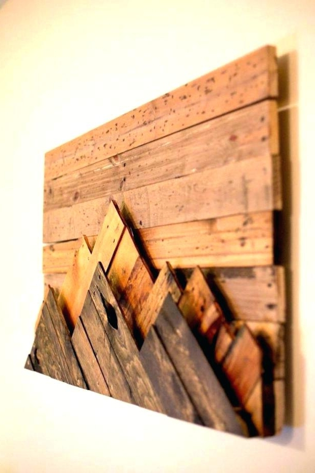 Widely Used Natural Wood Wall Art Intended For Wood Plank Wall Art Wooden Wall Art Decor Love With Reclaimed Wood (View 13 of 15)