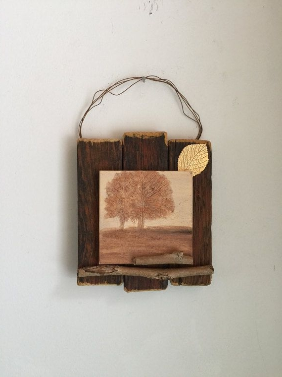 Widely Used Nature Inspired Decor, Rustic Wall Art, Twigs Trees Leaves, Autumn Throughout Autumn  Inspired Wall Art (View 2 of 15)