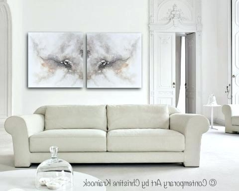 Widely Used Neutral Abstract Wall Art Intended For Painted Canvas Wall Art – Chastaintavern (View 10 of 15)