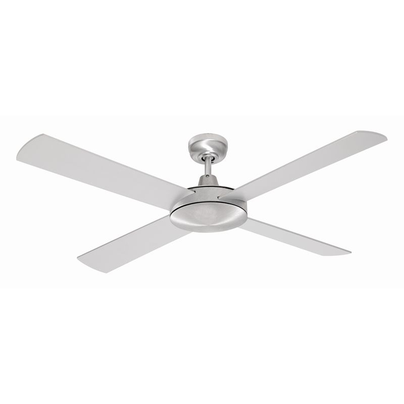 Widely Used Outdoor Ceiling Fans At Bunnings With Mercator 130Cm Brushed Steel 4 Blade Grange Ceiling Fan (View 10 of 15)