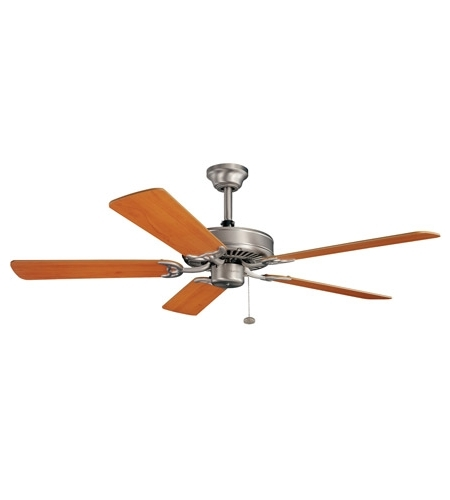 Widely Used Outdoor Ceiling Fans At Kichler Intended For Kichler Lighting Sterling Manor Fan In Brushed Nickel 339010Ni (View 10 of 15)