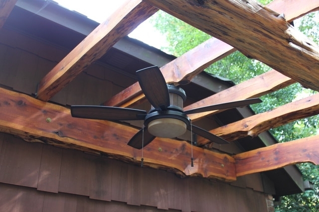 Widely Used Outdoor Ceiling Fans For Pergola Regarding Pergola Outdoor Fan – Traditional – Patio – New York  Steve's (View 4 of 15)