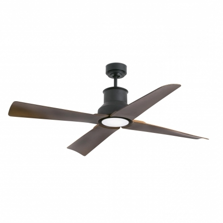 Widely Used Outdoor Ceiling Fans With Dc Motors Regarding Outdoor Dc Motor Ceiling Fan Winche Black With Led Lightfaro (View 15 of 15)