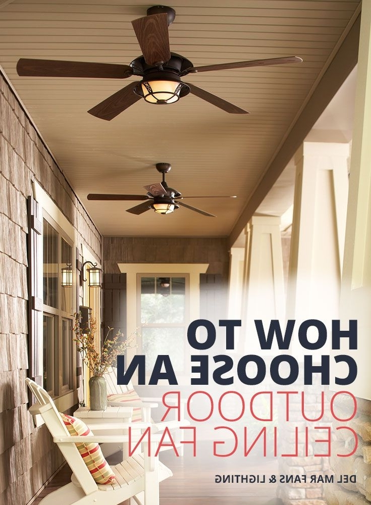 Widely Used Outdoor Patio Ceiling Fans With Lights Within Indoor Ceiling Fans Vs (View 14 of 15)