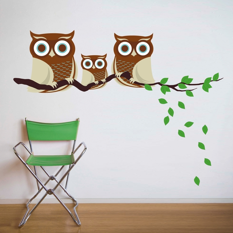 Widely Used Owl Wall Art Stickers In Owl Wall Decals Website With Photo Gallery Owl Wall Decals – Best (View 7 of 15)