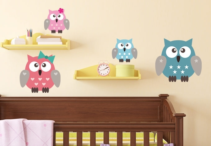 Widely Used Owl Wall Art Stickers Intended For Wall Decals Owls Family H Contemporary Art Websites Owl Wall Decals (View 15 of 15)