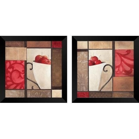 Widely Used Ptm Images Cherry Modern 2 Piece Framed Graphic Art Set – Walmart In Walmart Framed Art (View 15 of 15)