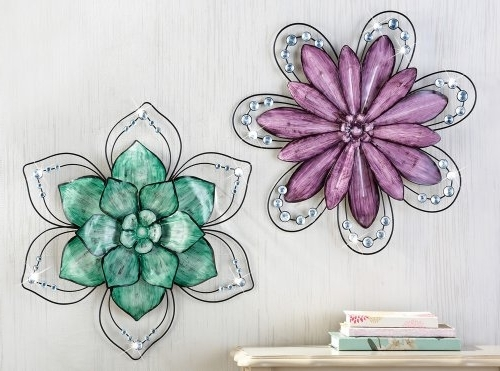 Widely Used Purple Flower Metal Wall Art Inside Purple Floral Wall Art – Elitflat (View 3 of 15)