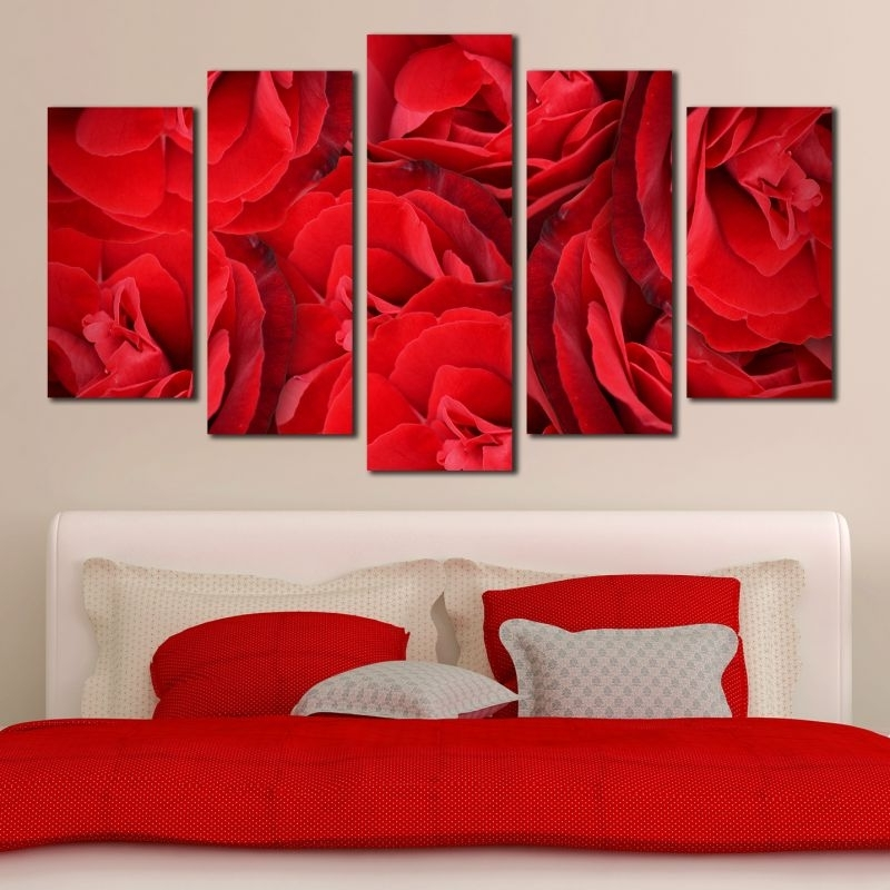 Widely Used Red Rose Wall Art Inside Online Canvas And Pvc Decorations (View 14 of 15)