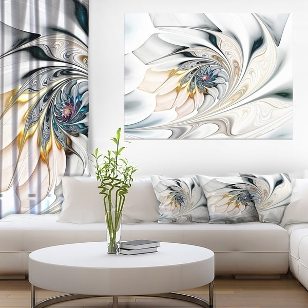 Widely Used Shop White Stained Glass Floral Art – Large Floral Wall Art Canvas In Large White Wall Art (View 7 of 15)