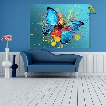 Widely Used Supply For Eaby Digital Print Canvas Wall Art Abstract Butterfly Throughout Abstract Butterfly Wall Art (View 5 of 15)