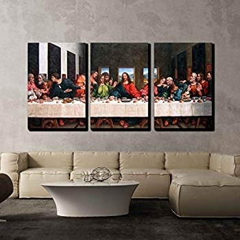 Widely Used The Last Supper Wall Art Pertaining To Amazon: Wall26 3 Piece Canvas Wall Art – The Last Supper (View 2 of 15)