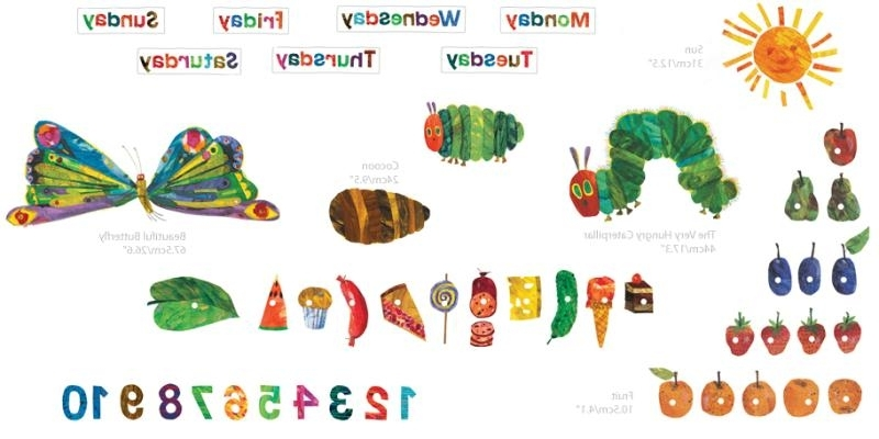 Widely Used The Very Hungry Caterpillar Wall Art With Regard To The Very Hungry Caterpillar Wall Stickers – Palesten – (View 9 of 15)