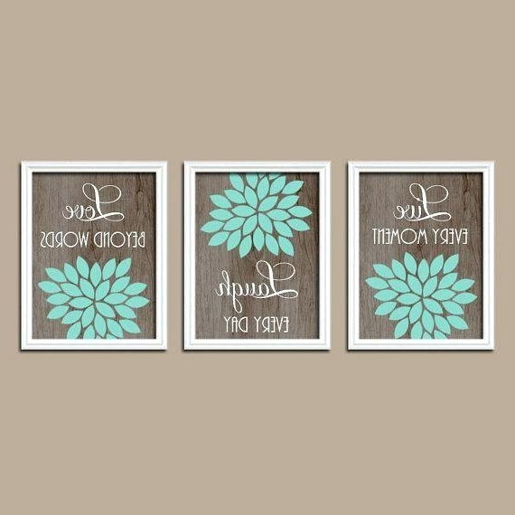 Widely Used Turquoise And Brown Wall Art Inside Green And Brown Wall Art Best Turquoise Bedroom Walls Ideas On Teal (View 7 of 15)