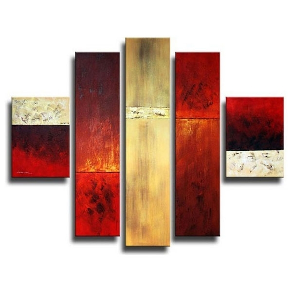 Widely Used Wall Art Multiple Pieces Intended For Painting Canvas Multiple Piece Wall Art Picture Painting Decoration (View 3 of 15)