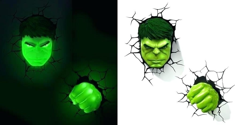 Widely Used Wall Art Night Light Hulk Night Light Wall Art Night Light With Hulk For Hulk Hand 3D Wall Art (View 7 of 15)