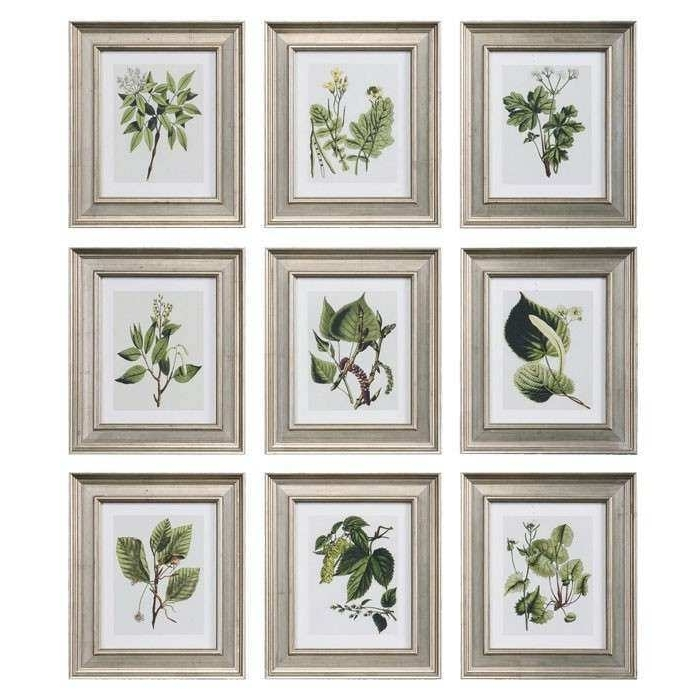 Widely Used Wall Art Print Sets Pertaining To Framed Wall Art Sets Beautiful 9 Piece Botanical Study Framed Print (View 2 of 15)
