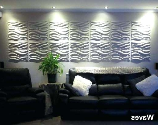 Widely Used Waves 3D Wall Art In Home Plant Fiber Panels Waves Design I I Wall Art 3D Flowers Wall (View 4 of 15)