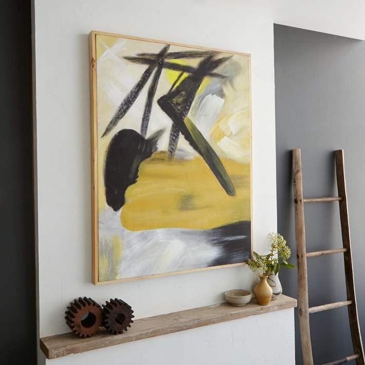 Widely Used West Elm Abstract Wall Art Within I Want That Wall! 5 Easy Steps To Hanging Art – Front + Main (View 2 of 15)