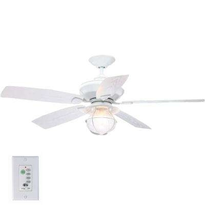 Widely Used White – Indoor/outdoor – Hampton Bay – Ceiling Fans – Lighting – The With White Outdoor Ceiling Fans (View 14 of 15)