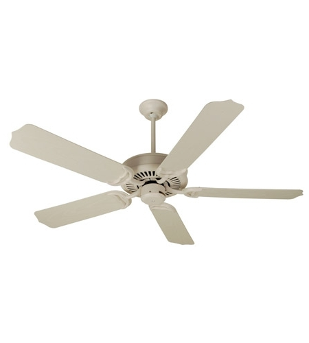 Widely Used White Outdoor Ceiling Fans Pertaining To Craftmade K10172 Porch 52 Inch Antique White Outdoor Ceiling Fan Kit (View 15 of 15)