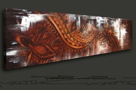 Widely Used Wooden Vintage Polynesian Wall Decor Fork & Spoon Tiki Style With Polynesian Wall Art (View 15 of 15)