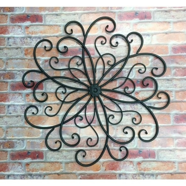 Widely Used Wrought Iron Garden Wall Art Inside Outdoor Metal Wall Art/metal Wall Hanging/bohemian Decor/faux (View 4 of 15)