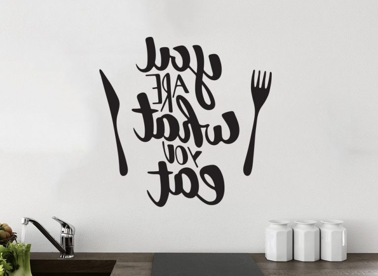 Widely Used You Are What You Eat Kitchen Wall Decor Vinyl Sticker Decal Mural Intended For Wall Art Deco Decals (View 12 of 15)