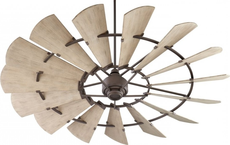 Windmill 72 Inch Outdoor Ceiling Fan In Oiled Bronze With 15 In Most Current 72 Inch Outdoor Ceiling Fans With Light (View 10 of 15)