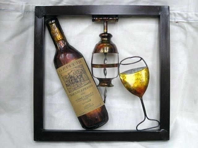 Wine Metal Wall Art Cool Wine Bottle Metal Wall Art Wall Art Throughout Best And Newest Wine Metal Wall Art (View 13 of 15)