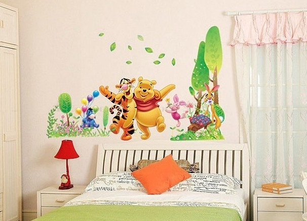 Winnie Pooh Wall Decal Superb Winnie The Pooh Wall Decals – Wall With Favorite Winnie The Pooh Wall Art (View 14 of 15)