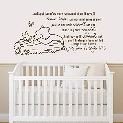 Winnie The Pooh Vinyl Wall Art For Newest Amazon: Winnie The Pooh Quote Wall Decal Vinyl Sticker Decals (View 9 of 15)