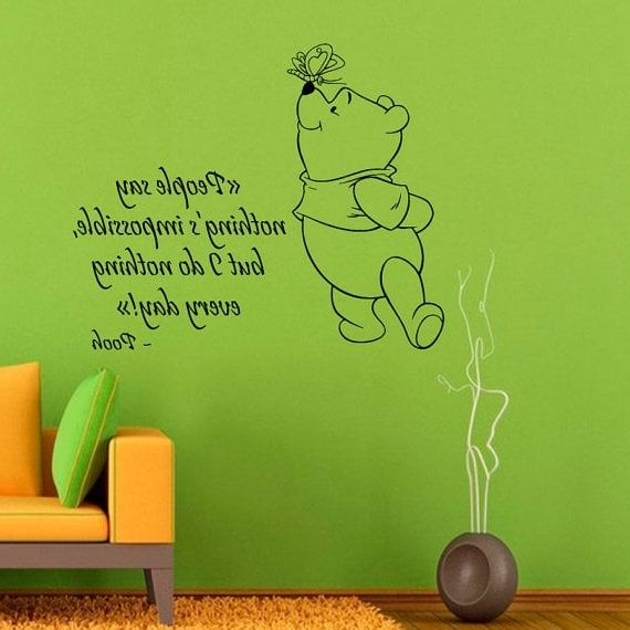 Winnie The Pooh Vinyl Wall Art Inside Newest Shop Winnie The Pooh Quotes Children Vinyl Sticker Wall Decor Home (View 10 of 15)