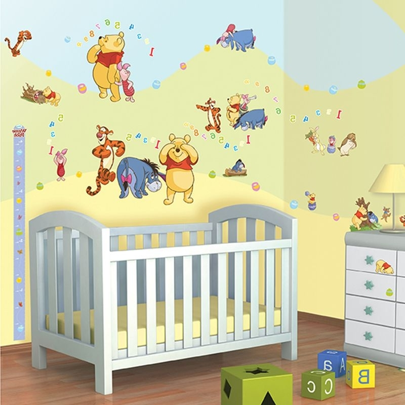 Winnie The Pooh Vinyl Wall Art Intended For Latest Disney Winnie The Pooh Wall Decor Sticker Kit – 79 Piece (View 11 of 15)