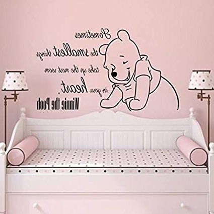Winnie The Pooh Vinyl Wall Art Throughout Most Current Wall Decals Quotes Vinyl Sticker Decal Quote Winnie The Pooh (View 12 of 15)