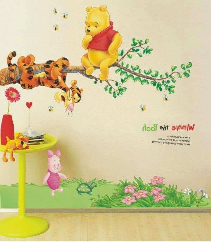 Winnie The Pooh Wall Art Beautiful Winnie The Pooh Tree Branch In Widely Used Winnie The Pooh Wall Art For Nursery (View 13 of 15)