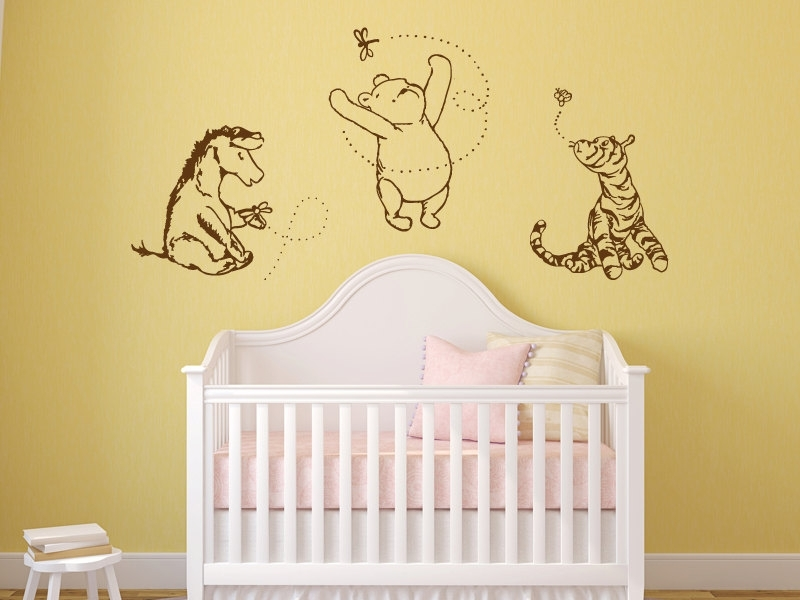 Winnie The Pooh Wall Art Decals — Batchelor Resort Home Ideas Within Newest Winnie The Pooh Vinyl Wall Art (View 15 of 15)