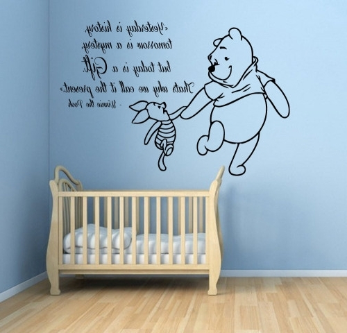 Winnie The Pooh Wall Art For Nursery For Best And Newest Winnie The Pooh Wall Decals Piglet Wall Quotes Words Children Vinyl (View 9 of 15)