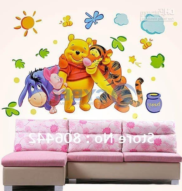 Winnie The Pooh Wall Art In Most Recent Pvc Wall Sticker ,winnie The Pooh,wall Decal ,wallpaper, Room (View 4 of 15)