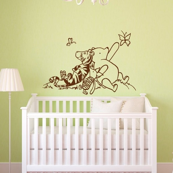 Winnie The Pooh Wall Decals Nursery Classic Winnie The Pooh With Regard To Popular Winnie The Pooh Wall Art For Nursery (View 15 of 15)