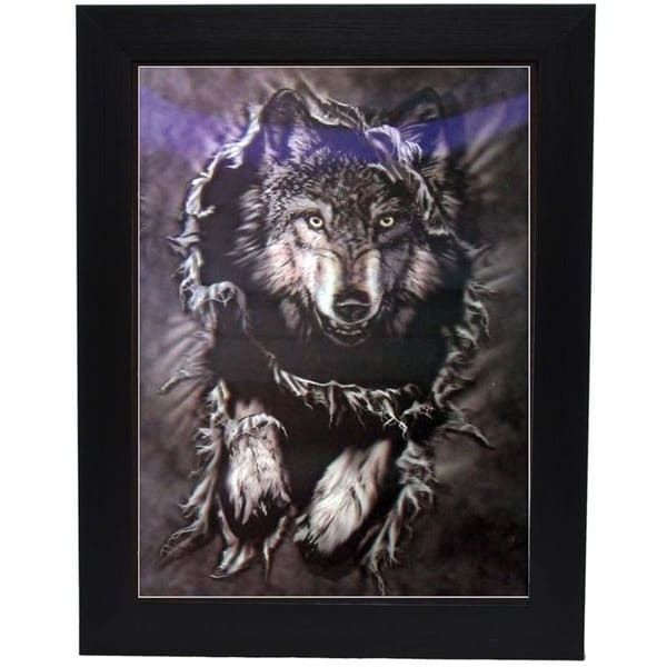 Wolf 3D Wall Art Intended For Widely Used Shop Hidden Wolf Framed 3D Wall Art – Free Shipping On Orders Over (View 14 of 15)