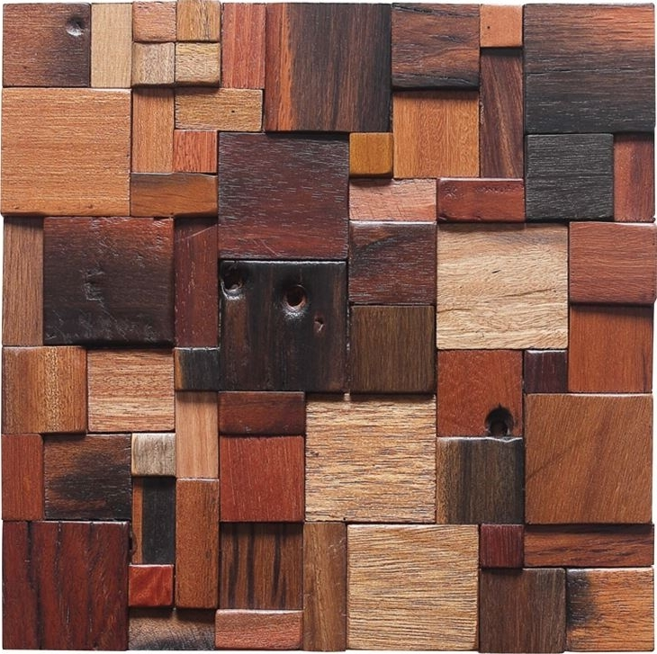 Wood 3D Wall Art In Most Current Customized Antique 3D Wood Mosaic Wall Art Suppliers And Factory (View 13 of 15)