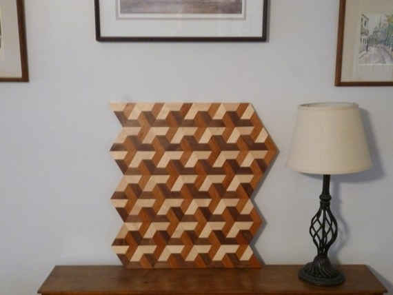 Wood 3D Wall Art Throughout Well Known Wood 3D Wall Art Geometric Wood Art 3D Wood Art Wood Wall (View 15 of 15)