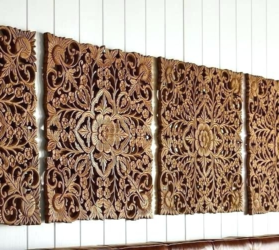 Wood Carved Wall Art Panels With Favorite Carved Wood Wall Decor Carved Wall Panel Furniture Wall Decor Carved (View 4 of 15)