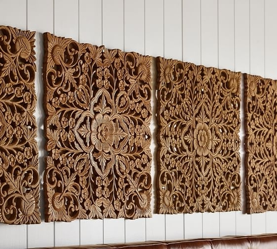Wood Carved Wall Superb Wood Carved Wall Art - Wall Decoration And regarding Well known Wood Wall Art Panels