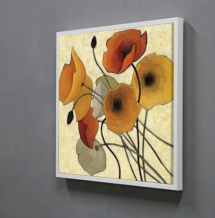 Wood Framed Abstract Flower Canvas Art Wall,canvas Wall Art,canvas Within Fashionable Abstract Flower Wall Art (View 6 of 15)