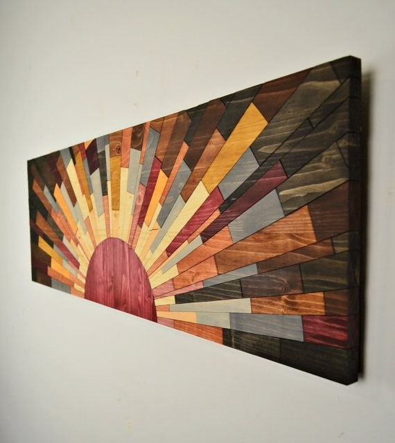 """Wood Wall Art – """"edge Of The Day"""" – Wall Art Handcraftedjeremy Inside Most Up To Date Wall Art On Wood (View 2 of 15)"""